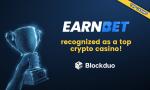 EarnBet被評為三大加密貨幣博彩遊戲平台之一