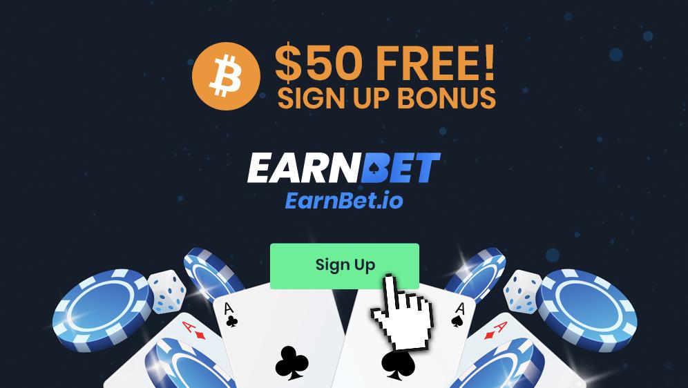 EarnBet 50$ bonus