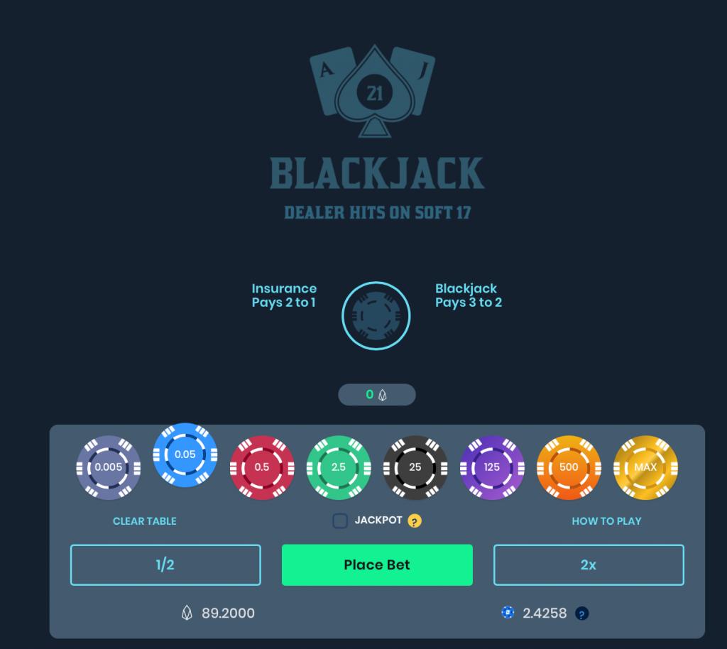 EarnBet Blackjack