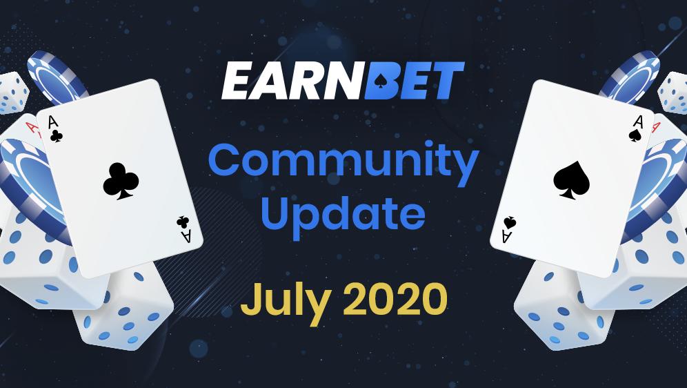 EarnBet 커뮤니티 업데이트 – 2020 7월 22일