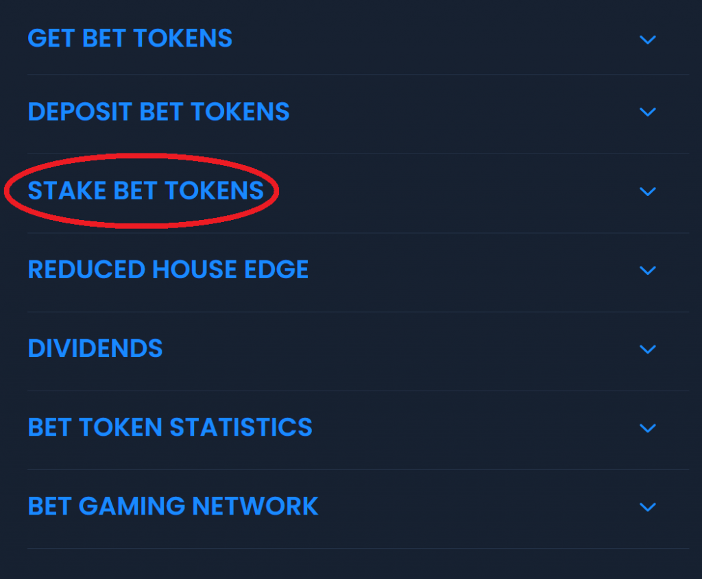 EarnBet Stake BET Tokens